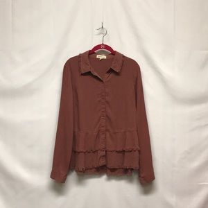 Cloth & Stone long sleeve button up size M